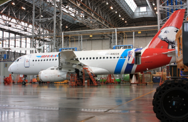 Yamal and Engineering started their cooperation with Western-built aircraft, but now the provider has experience in maintaining the Salekhard-based carrier's SJ100s
