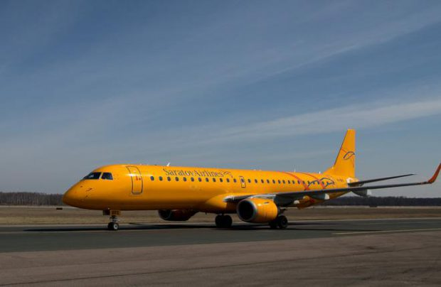 Russia's Saratov Airlines leads the world in ERJ190 utilization