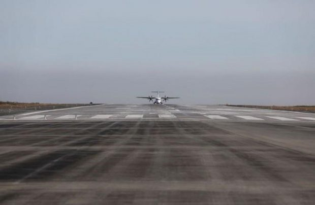 Norilsk is located in one of the world's coldest regions, hence the stepwise approach to the runway renovation project