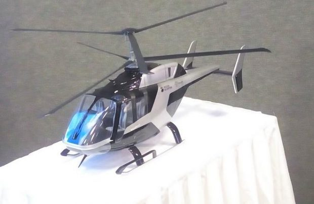 The VRT500 has no tail rotor