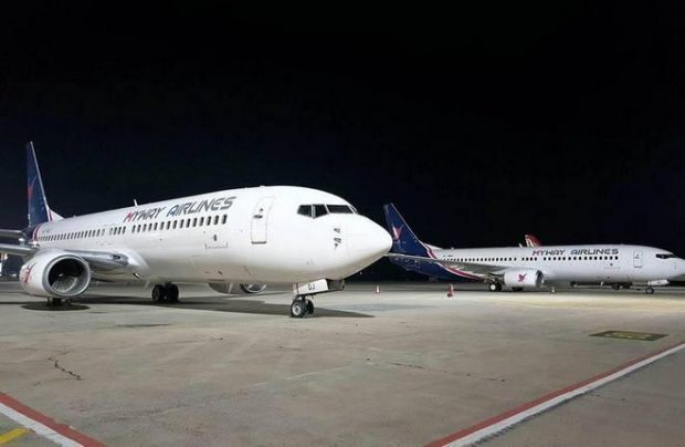MyWay Airlines operates Boeing 737s and might orderr a 777 for direct flights to the US