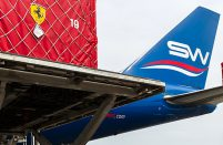 Azeri Silk Way West Airlines provides most of the airlift for the Azerbaijan Formula One Grand Prix