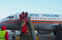 Superjet 100 delivers passengers to the world's northernmost airport