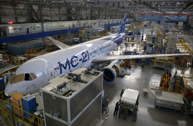 MC-21 aircraft production in Irkutsk