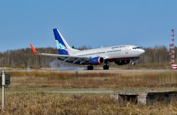 Russia's Nordavia Boeing 737-700 aircraft