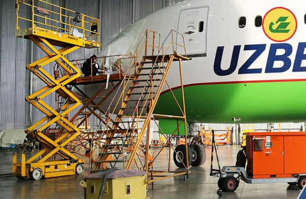 Uzbekistan Airways Technics UAT Boeing 737