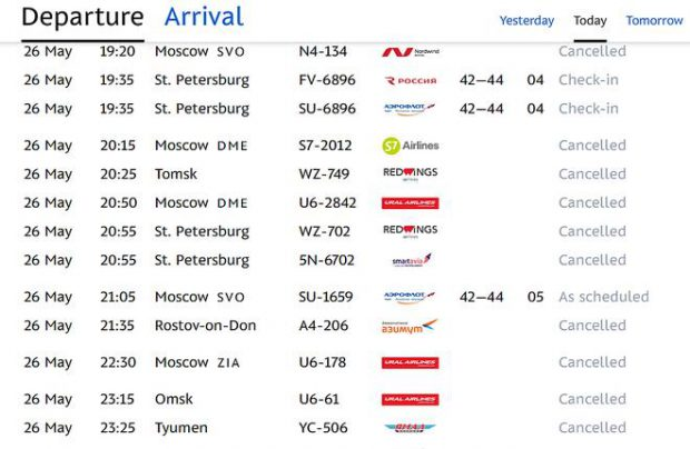 Russian airlines increase