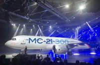 The first MC-21 prototype rolled out in Irkutsk will be used for flight testing