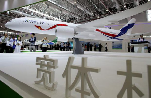 The mockup of the Russo-Chinese aircraft is made in 1:10 scale