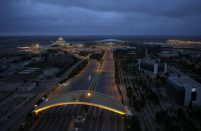 The largest share of traffic that traveled through Azerbaijan capital used international service