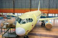 Aviastar-SP installs interiors and checks the cabin management system operation on SSJ100 regional airliners