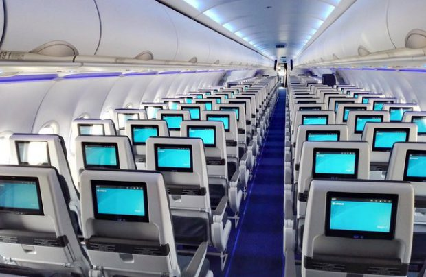 Air Astana's A321neo is equipped with an in-seat inflight entertainment system (IFE)