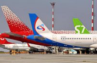 Russian airlines' traffic August 2020